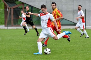 Andrea Morassi in azione nel derby vinto dal Real (foto A. Cella)